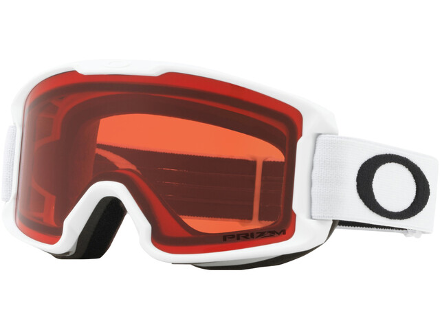 Oakley Line Miner Lunettes de ski Enfant, matte white/w prizm snow rose